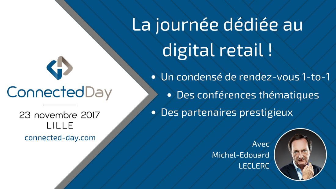 Bannière CD format RS et WP - B.D.C. partenaire du Connected Day, la journée dédiée au digital retail