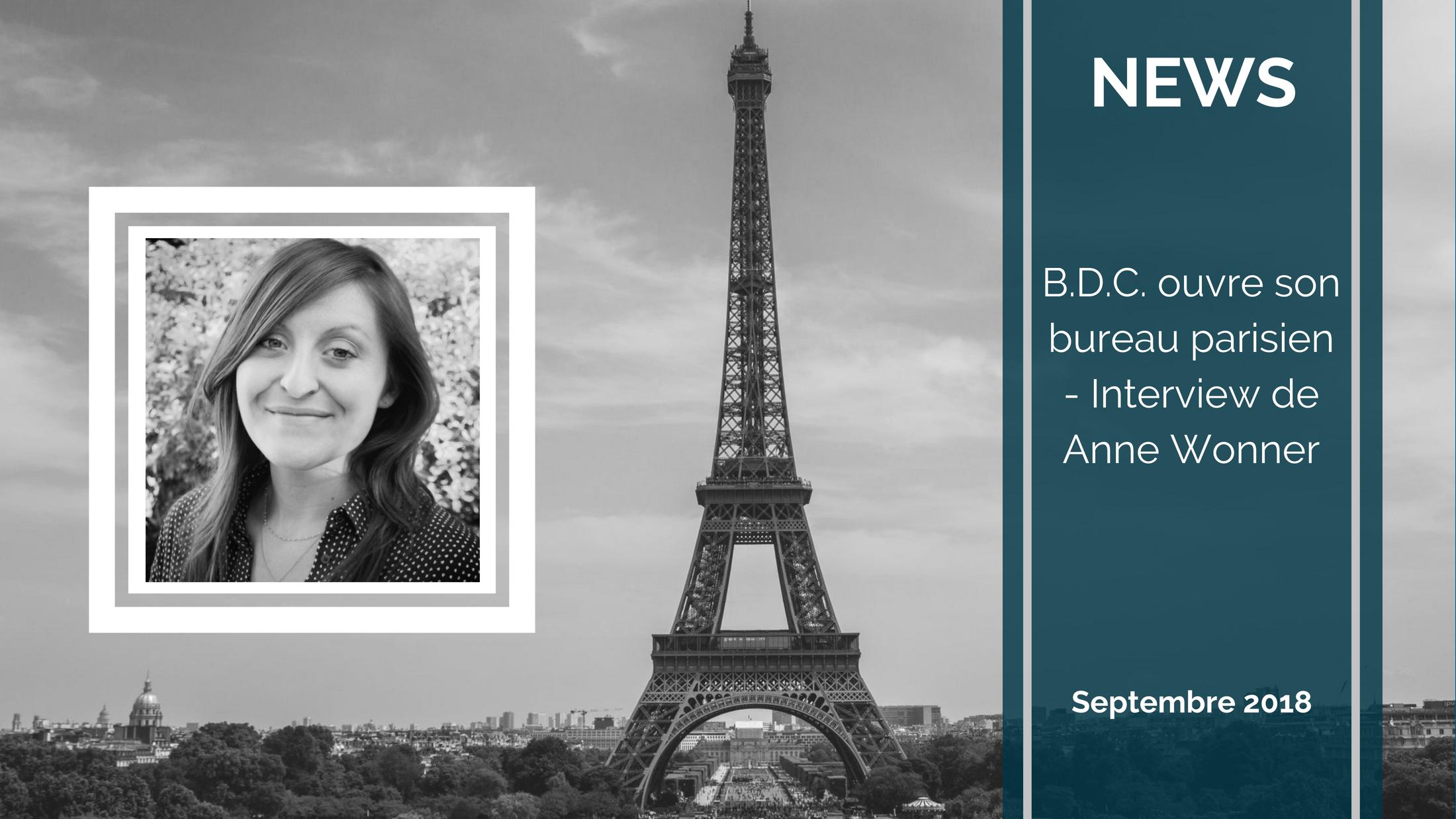 BDC PARIS - B.D.C. ouvre son bureau parisien