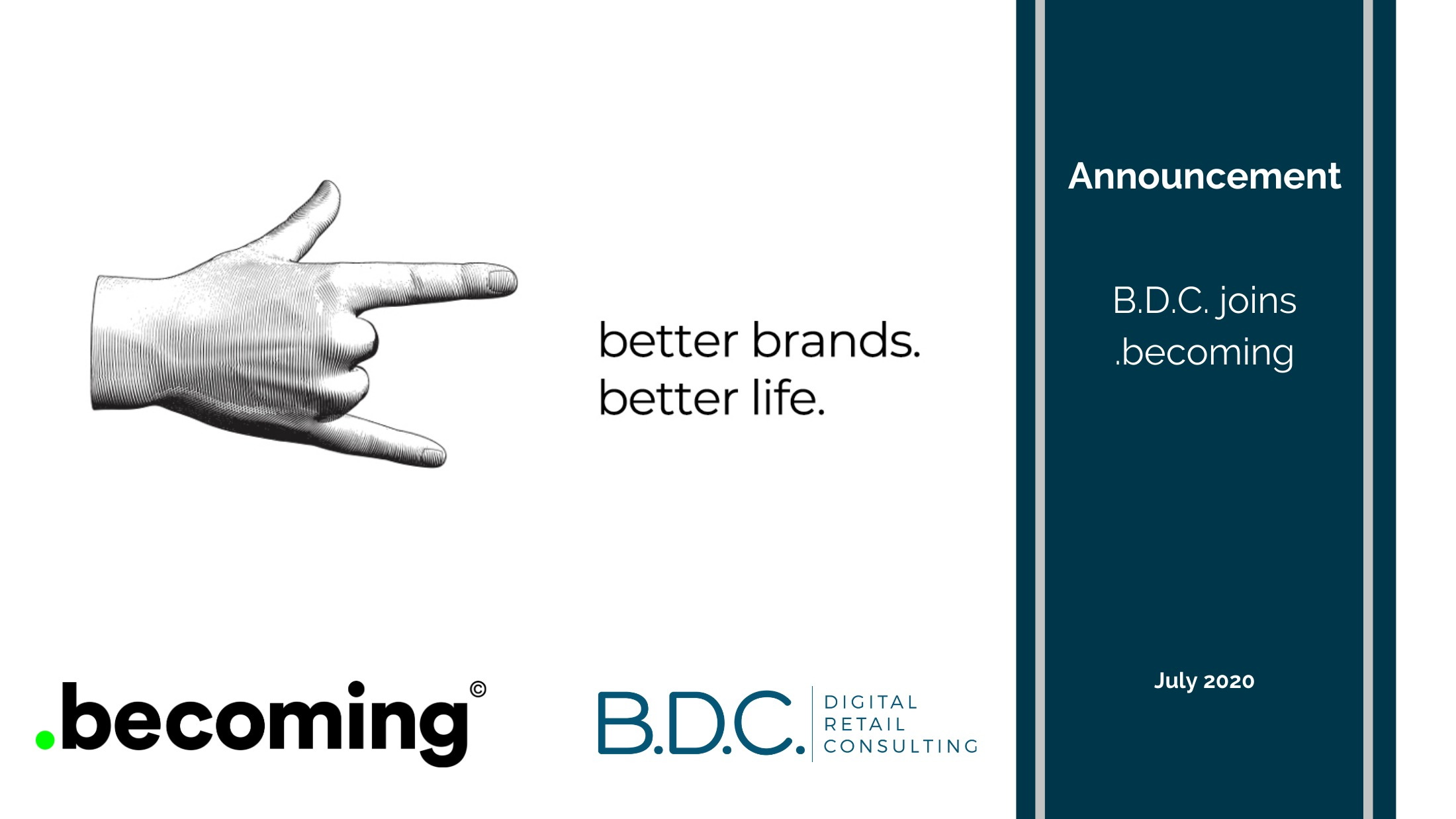 Expérience client 21 - B.D.C. joins .becoming!